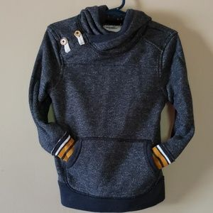 Other - 50% OFF 3+   Distressed Navy Blue Hooded Pullover